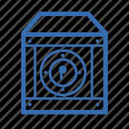 box, cargo, delivery, lock, security, transportation icon