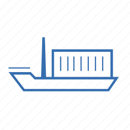 boat, cargo, delivery, ship, shipping, transport, transportation icon