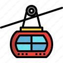 cableway, ropeway, transport, travel icon