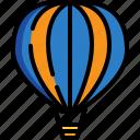 air, balloon, hot, tourism, transportation, travel icon