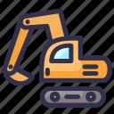 bulldozer, construction, excavator, tracktor
