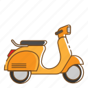 bike, transportation, vehicle, vespa