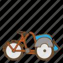 pedicab, transportation, tricycle, vehicle icon