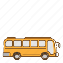 bus, transportation, vehicle