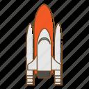 rocket, transportation, vehicle
