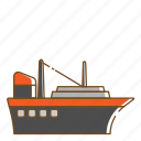 ferry, ship, transportation, vehicle icon