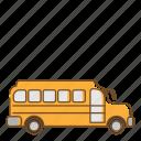 bus, school, school bus, transportation, vehicle