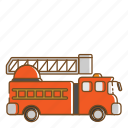 fire, fire engine, transportation, vehicle icon
