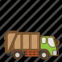 garbage, transportation, trash, vehicle icon