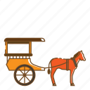 buggy, carriage, transportation, vehicle icon