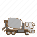 mixer, transportation, truck, vehicle