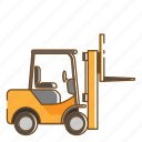 forclift, transportation, vehicle icon
