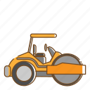 compactor, transportation, vehicle icon