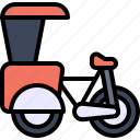 transport, vehicle, tricycle, richshaw