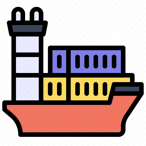 Transport, vehicle, ship, shipping, cargo, container icon - Download on Iconfinder