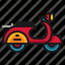 bike, classic, scooter, transportation, vehicle, vespa icon