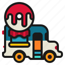 delivery, donus, fast, food, shop, truck icon
