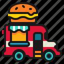 delivery, fast, food, hamburger, shop, truck