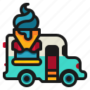 cream, delivery, fast, food, ice, shop, truck icon