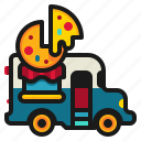 delivery, fast, food, pizza, shop, truck icon