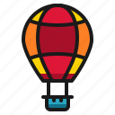 air, balloon, hot, parachute icon