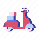 delivery, motorbike, motorcycle, scooter, transportation, vehicle