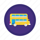bus, double decker, school bus, transport, travel