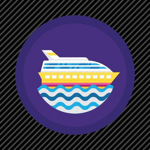 cruise, sea, ship, transport, travel icon
