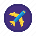 aeroplane, airplane, flight, fly, transport, travel icon