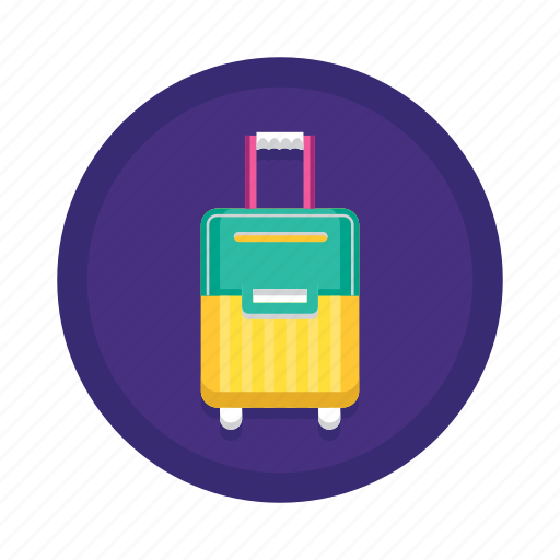 baggage, carry on, check in, luggage, travel icon