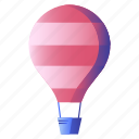 air, balloon, floating, tourism, travel icon