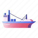 boat, cargo, carrier, freight, shipping, transportation icon