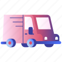 car, delivery, minitruck, transportation, truck, van, vehicle icon