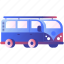 car, delivery, hipster, minivan, transport, transportation, travel, van, vehicle icon