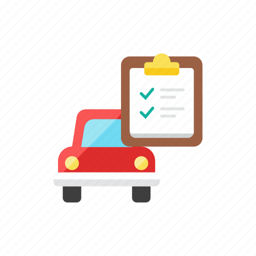 car, list icon