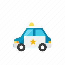 2, car, police icon