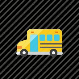 2, bus, school icon