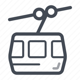 cable car, cableway, mountain, public transport, ropeway, transportation icon