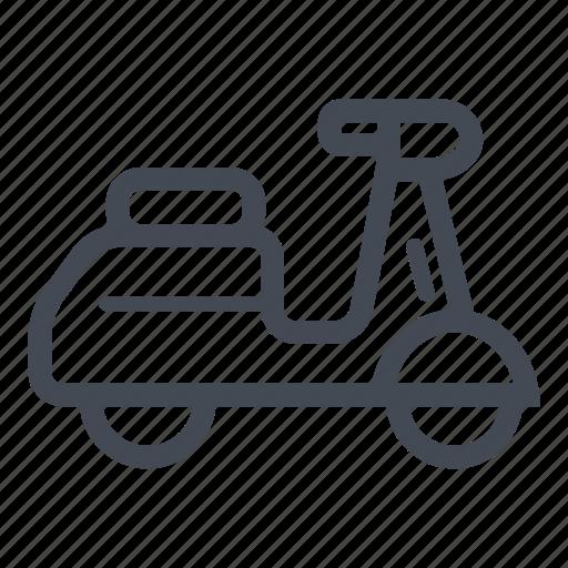 city transport, motorcycle, scooter, transportation, vespa icon