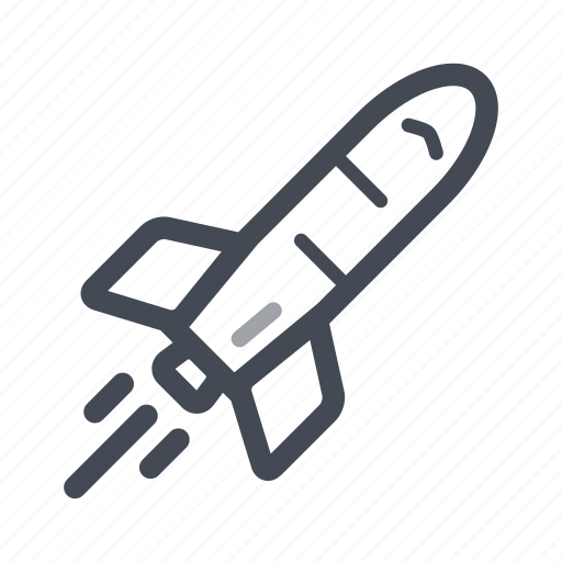 rocket, space, space shuttle, spacecraft, transportation icon