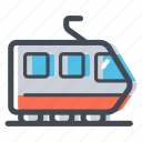 public transport, rail, railroad, track, train, train station, transportation icon
