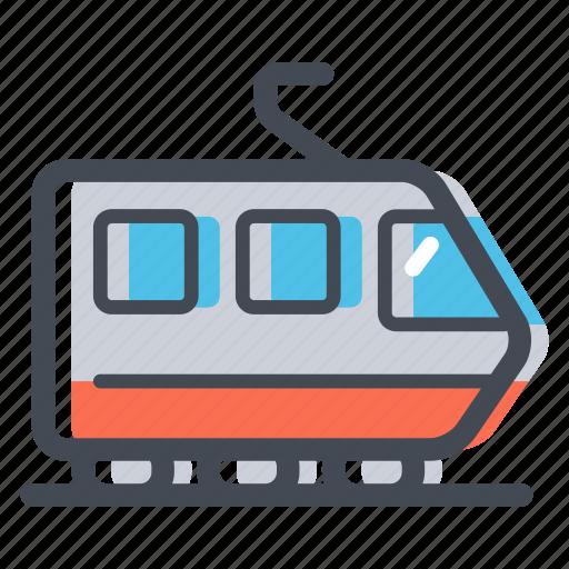 public transport, rail, railroad, track, train, train station, transportation icon