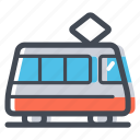 city transport, public transport, tram, tramway, transportation icon