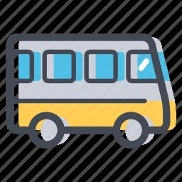 bus, bus route, city transport, public transport, school bus, transportation, vehicle icon