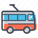 buses city, city transport, public transport, transportation, trolleybus, vehicle icon