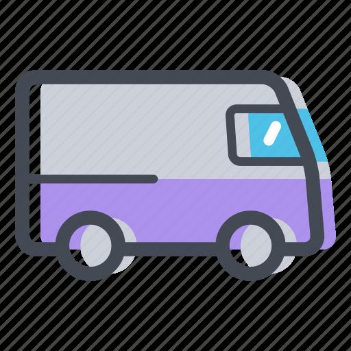 delivery van, transportation, van, vehicle icon
