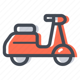 city transport, motorcycle, scooter, transportation, vespa icon