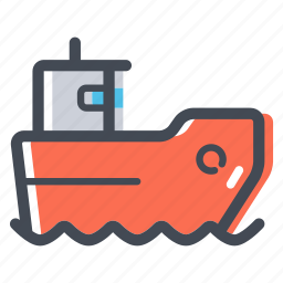 sea, ship, shipping cargo, transportation icon