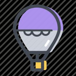 air, air balloon, balloon, hot air balloon, transportation icon