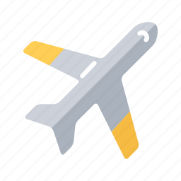 air, airplane, fly, jet plane, plane, public transport, transportation icon